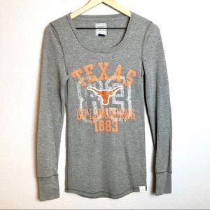 Victoria Secret PINK TX Longhorns Thermal Blouse